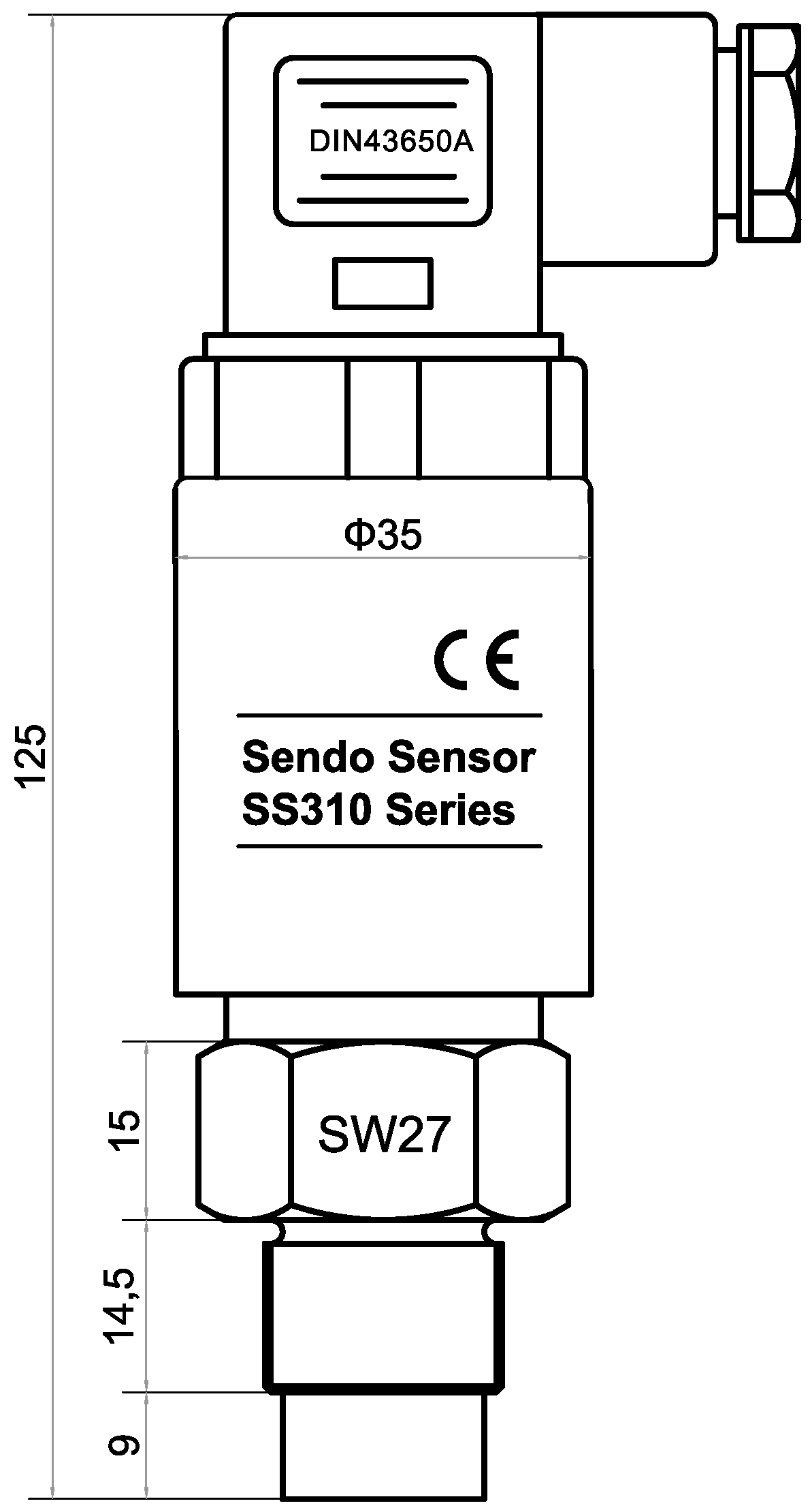 SS310 series industrial oem pressure sensor for slurry, cement, crude oil